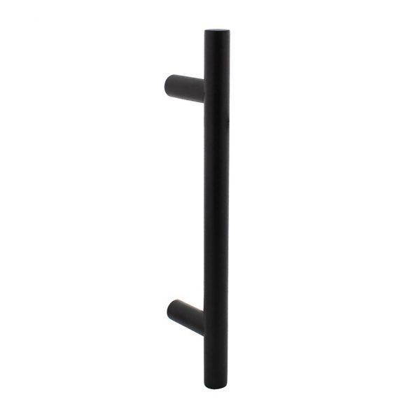 intersteel deurgreep T model zwart 400 mm