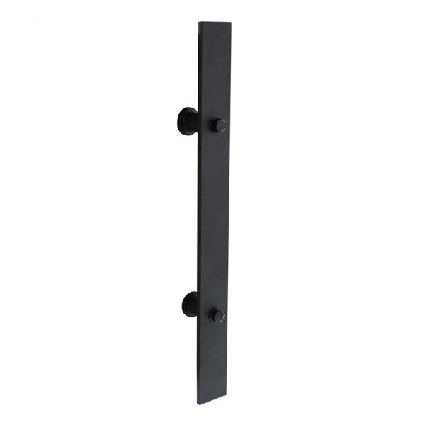 intersteel deurgreep zwart plat 400 x 40 mm