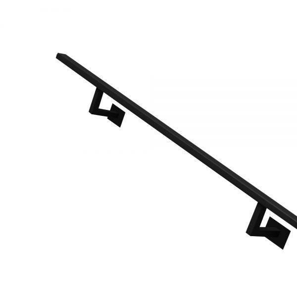 Stalen trapleuning zwart vierkant